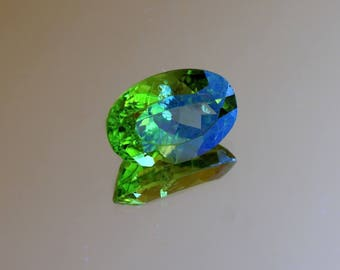 Arizona Peridot loose stone 10.07ct oval faceted Peridot Natural loose gemstone for jewelry