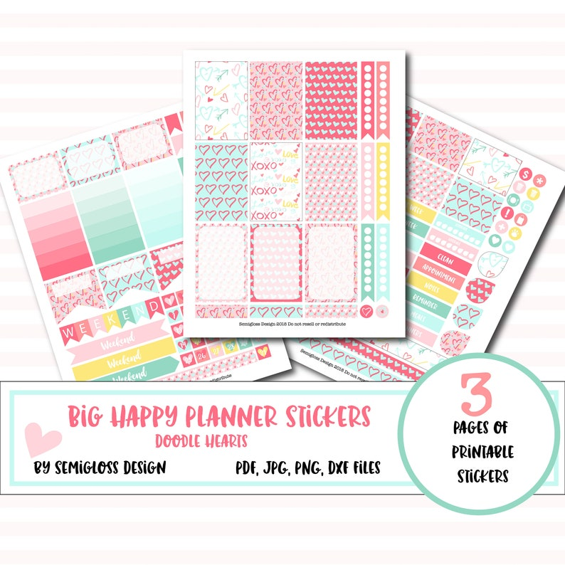 Big Happy Planner Stickers Printable Planner Stickers image 0