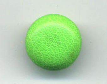 Neon Green, fabric button vinyl, 12 mm