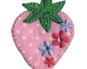 Patch fusible pink Strawberry