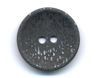 Fancy black reflection metal 27 mm button
