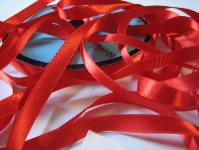 Red Organza ribbon 22mm 10m length