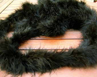 Marabou feathers with Black Swan by 10 cm