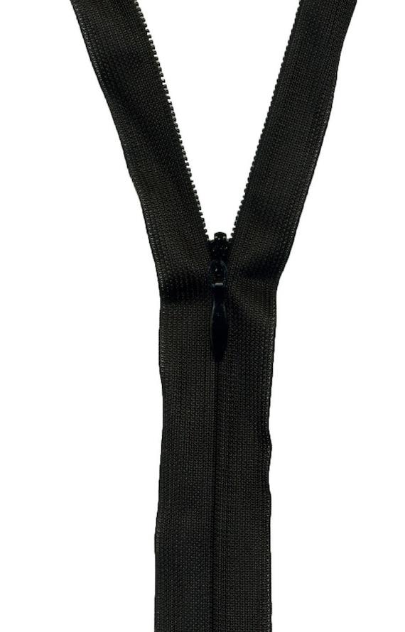 Black 50 cm separable zipper closure