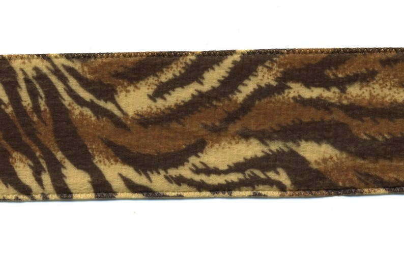 Tiger Skin Ribbon 38 mm animal velvet look 10-metre roll image 0