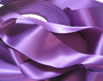 Violet satin ribbon width 66 mm, Coupon of 6.20 meters - lot 157