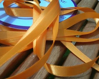 Orange Clair satin ribbon width 10 mm, Coupon of 5.80 meters - lot 204