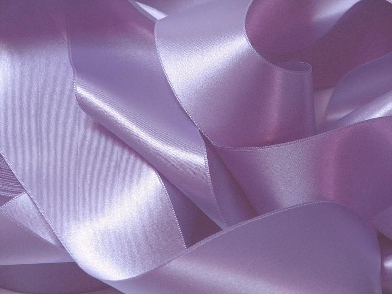 Mauve Violet satin ribbon width 25 mm Coupon of 3.10 meters  image 0