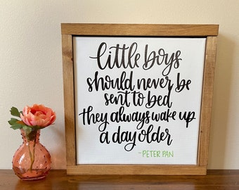 Little Boys Quote | Nursery Décor | Boys Room Décor | Canvas Sign | Handlettered Canvas | Baby Shower Gift | Disney Quote Sign