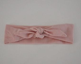 Light pink diaper baby headband