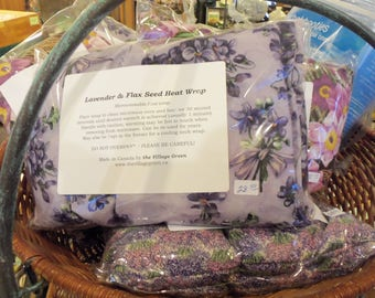 Lavender and Flax Seed Heat Wrap