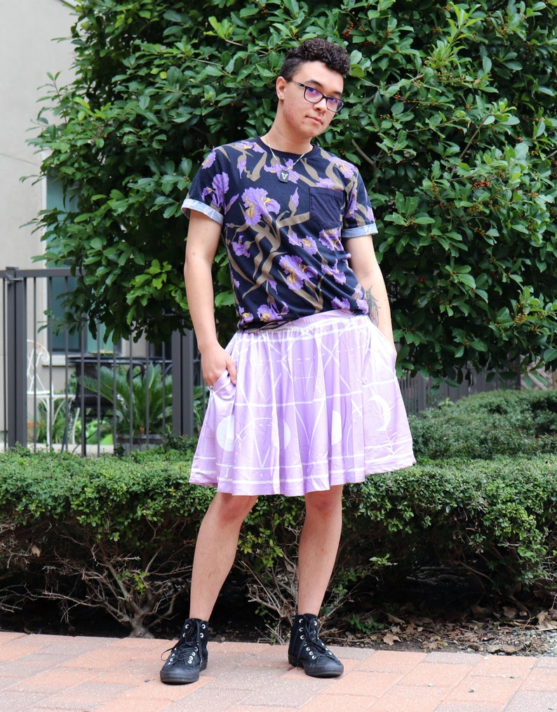 64fdeb5bc16 Angel Summoning Skirt WITH POCKETS Pastel Goth Purple Skater