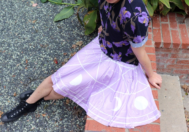 b76e320f71dbf Angel Summoning Skirt WITH POCKETS Pastel Goth Purple Skater
