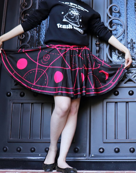 53fe937feeced Demon Summoning Circle Skirt WITH POCKETS Goth   Horror