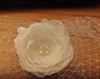 Birdcage Wedding Veil, Birdcage Veil, Fascinator birdcage veil, Wedding headpiece, Headband bridal