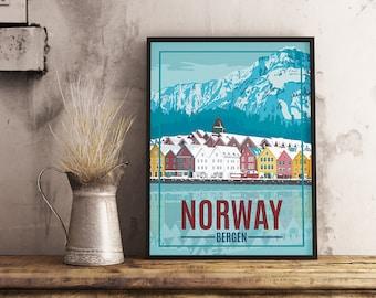 Norwegian House Vertical Poster Wall Decor Poster no frame