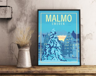 Scandinavia Vintage Style Travel Poster