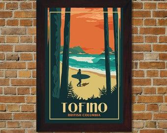 Tofino BC - Vintage Travel Poster