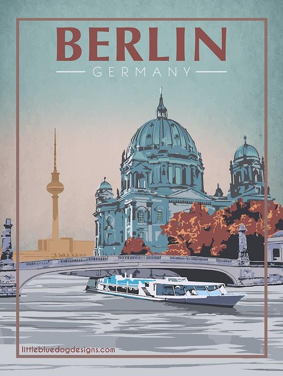 vintage retro travel /& railways posters Print #3 WINTER IN DEUTSCHLAND A3