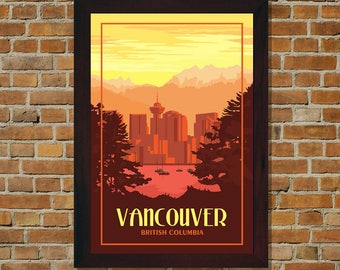 Vancouver BC - Vintage Travel Poster