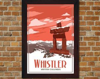 Whistler BC - Vintage Travel Poster