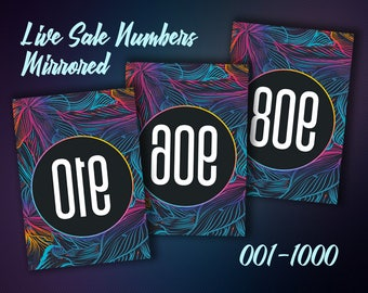 Mirrored Facebook Live Sale Numbers - Live Sale Number Cards - Live Sale Numbers - Facebook Live - Reverse Numbers - Instant Download