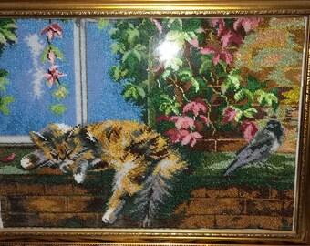 Beautiful handmade beaded picture