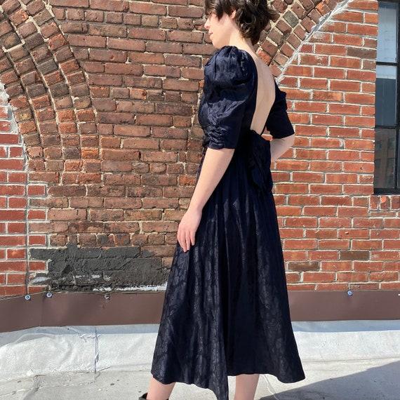 Puff Sleeve Black Dress - image 2