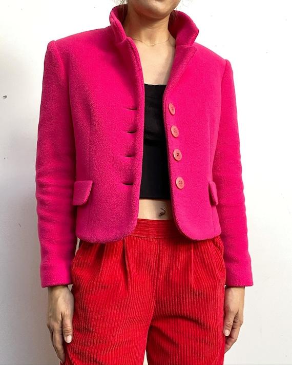 Vintage 90s Deadstock Cropped  Soft Fleece Blazer