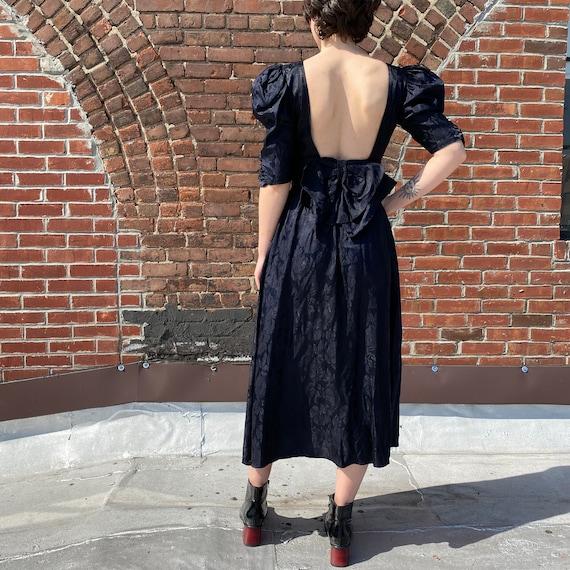 Puff Sleeve Black Dress - image 3