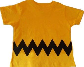 7d13cc6bae4 Charlie Brown Kids T-Shirt for Boy or Girl - Chuck Halloween Costume