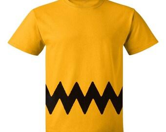 Charlie Brown Mens T-Shirt - Chuck Halloween Costume ecb97f71ed35