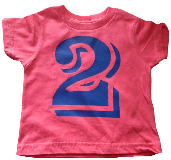 Number 2 TWO Second Birthday Shirt 2nd Bday Tee For