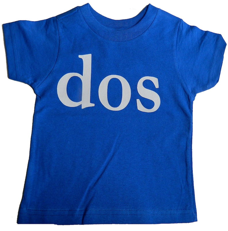 DOS Number 2 Second Birthday Shirt 2nd Bday Tee For