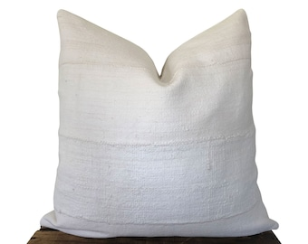 Ivory Mudcloth Pillow Cover