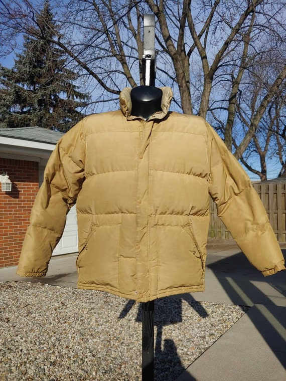 Vintage Polo Ralph Lauren Down Insulated Leather Trim Puffer
