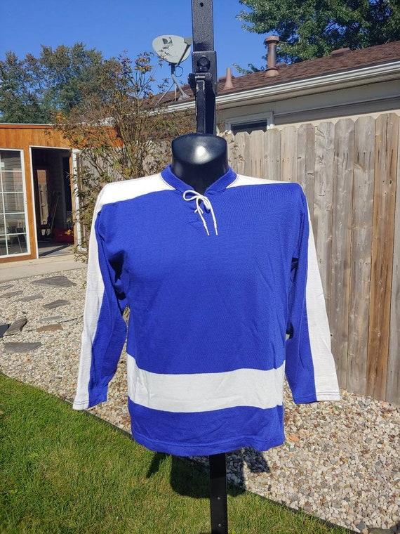 plain blue hockey jersey