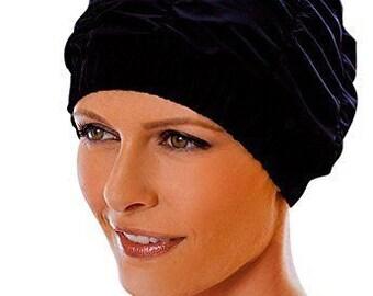 58f7ee07b48 Ladies retro shower cap plastic lined waterproof bath hat by Fashy