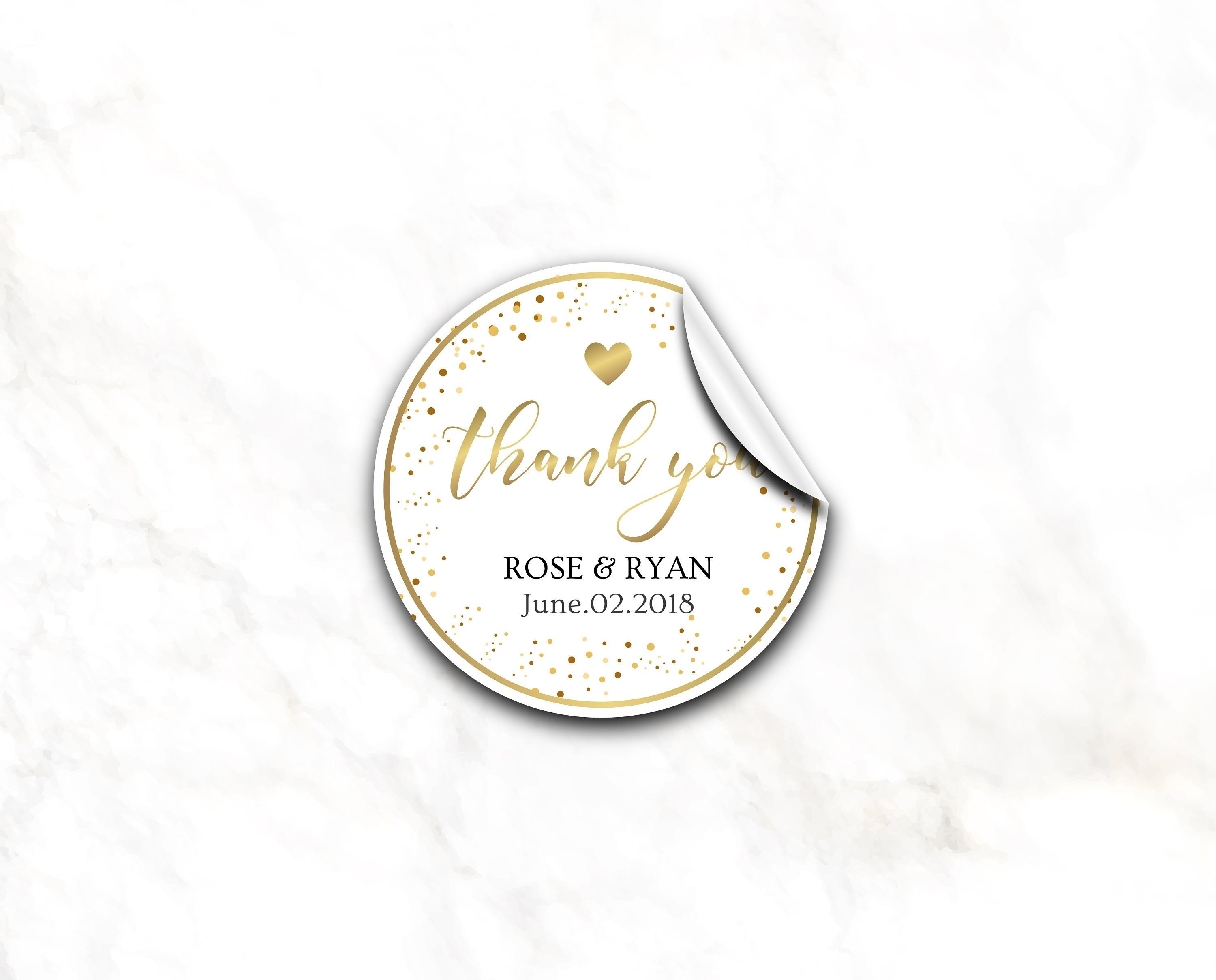 Personalized wedding favor stickers gold glitter stickers favor sticker bridal shower favor favor labels thank you for joining us 7