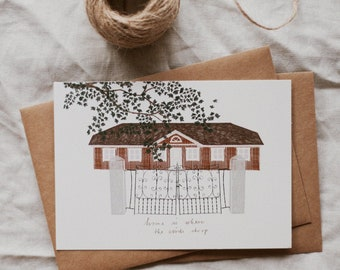 Home is where the birds chirp - Postcard, Housewarming, Welcome Home