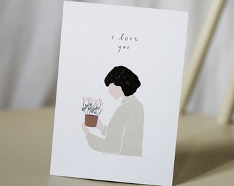 I love you Card - Valentines Day Card
