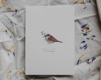 Birthday Card: Bird