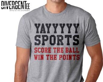 8c62ab4efa6 funny sports shirt hooray sports t shirt go sports football hockey soccer  baseball basketball humor gift sunday football yay go sports