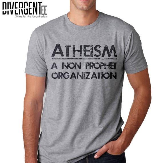 Atheism A Non Prophet Organization Shirt Atheist A Symbol Etsy