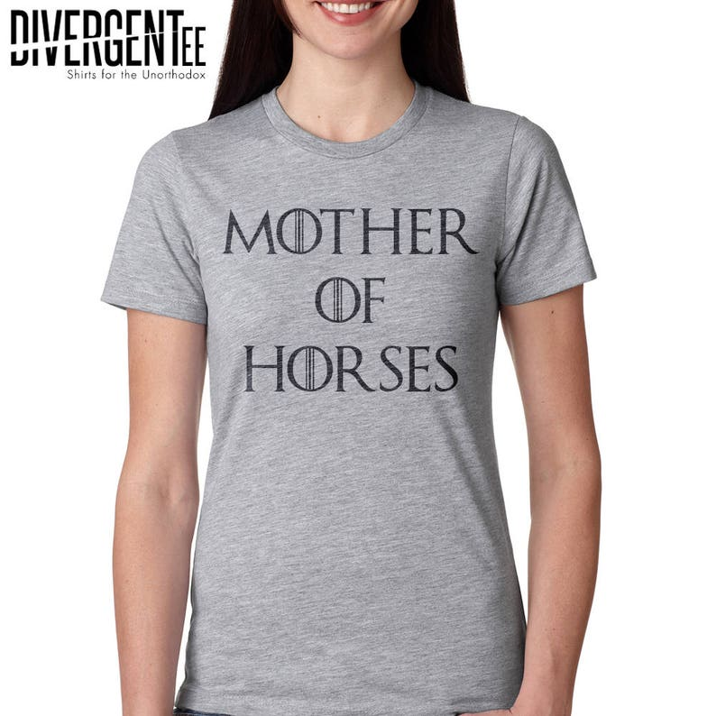 funny horse shirt mother of horses game of thrones shirt image 0