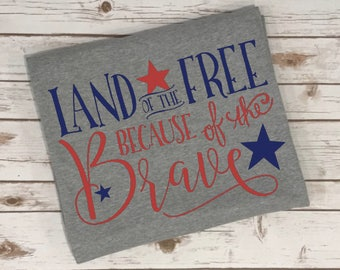 Birthday Gift Blanket - Personalized Blanket - Land of the Free Because of the Brave - Military Gift - Soldier Gift - USA - Camping Blanket