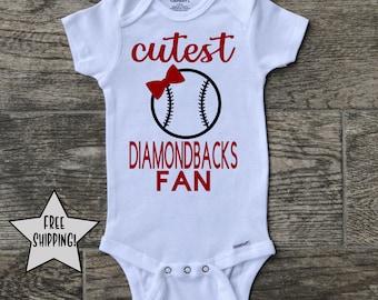 d61a29c5927 Arizona Diamondbacks onesie, MLB onesie, Baseball Onesie