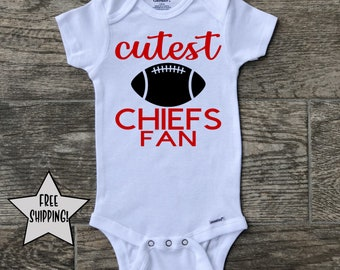 Gerber Baby Boys NFL Kansas City Chiefs Football Print Onesie; BABY CLOTHES GIFT