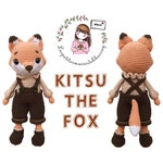 English/Spanish/French/Vietnamese crochet pattern amigurumi: KITSU THE FOX