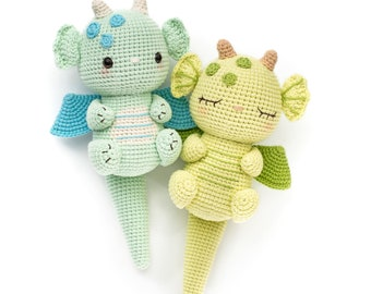 Crochet pattern: Devon and Devin the dragons - PDF pattern, instant download